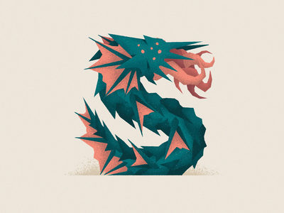 Monstography - S 36daysoftype monster font design typography typeface type vector minimal illustration character