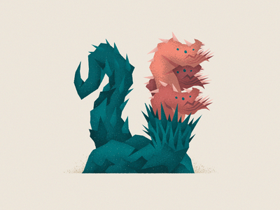 Monstography - U lovecraft hydra serpent monsters monster collection challenge 36daysoftype type design font design typography typeface type vector minimal illustration character