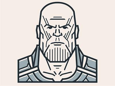 Thanos marvel thanos icons icon illustrator cc illustrator character vector illustration design