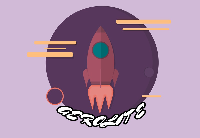 rocketship logo challenge #1 terriblefontchoice challenge planet space rocketship rocket logo icon illustrator graphic adobe flat vector illustration design