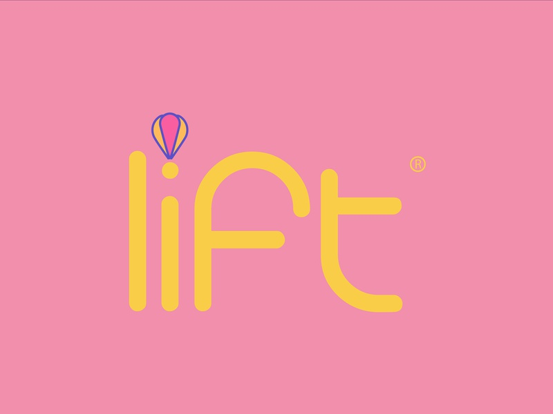 Lift airbaloon dailylogochallenge typography branding logo icon illustrator adobe graphic flat vector illustration design
