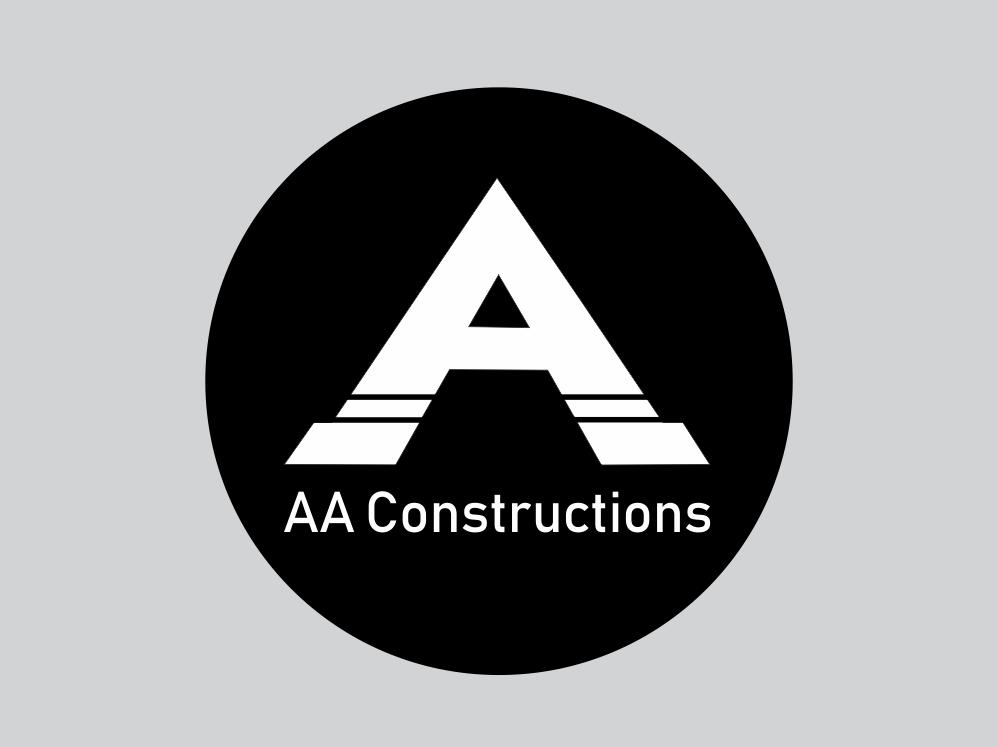 AA Constructions app ui adobe typography dailylogochallenge branding logo icon illustrator flat graphic vector illustration design