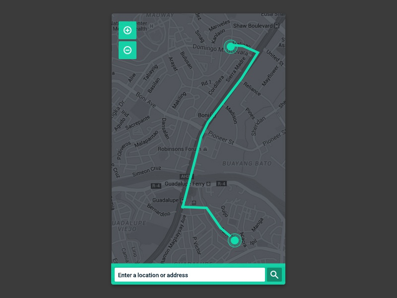 Daily Ui 020 tracker location ui interface design daily 020
