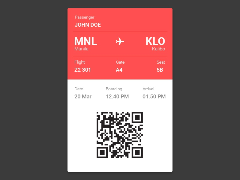 Daily Ui 024 pass boarding interface design ui daily 024