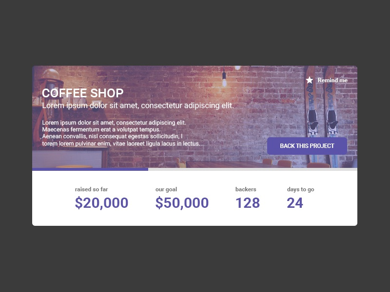 Daily Ui 032 campaign crowdfunding interface design ui daily 032