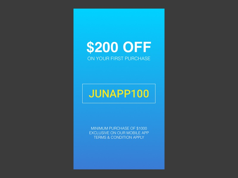 Daily Ui 036 offer special interface design ui daily 036