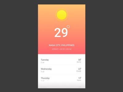 Daily Ui 037 hint weather interface design ui daily 037