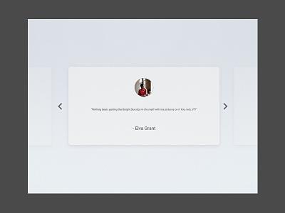 Daily Ui 039 testimonial interface design ui daily 038
