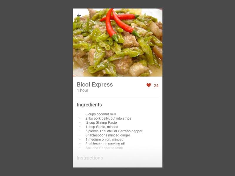 Daily Ui 040 share recipe ui interface design daily 040