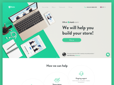 Shopify Experts Landing Page