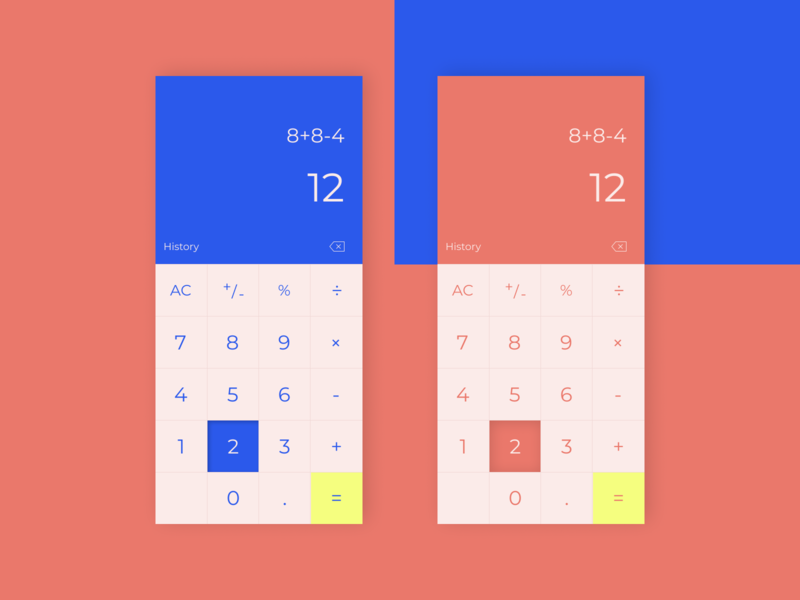 Daily UI #4 colorful calculate calculator mobile dailyuichallenge app figma ux ui flat design dailyui