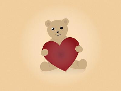 Teddy Bear heart vector teddy bear love valentines day illustration