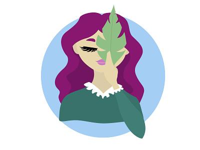 Leaf girl leaf girl illustration