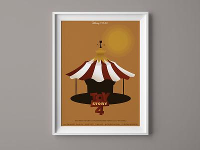 Toy Story 4 poster mockup poster pixar disney carrousel forky toystory illustration