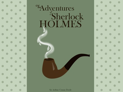 Sherlock Holmes || Book Cover Weekly Warm-up book cover sherlock holmes book dribbbleweeklywarmup mockup vector illustration