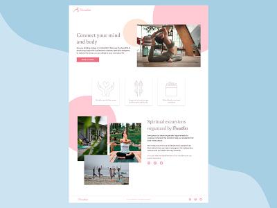 Landing page || DailyUI sport yoga figma ui design desktop design dailyui daily 100 challenge 003 landing page