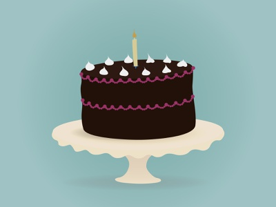 Happy birthday cake chocolate november illustration birthday cake