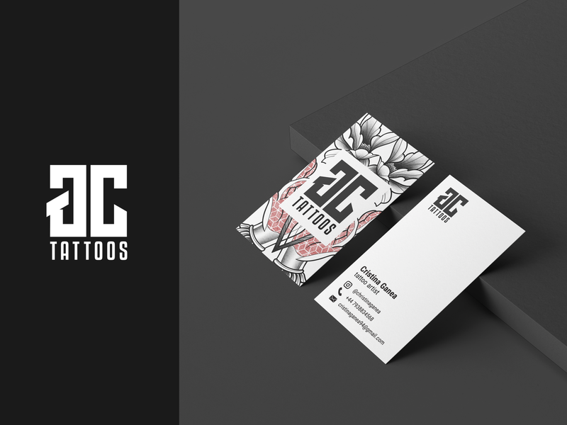 GC |  Business Card tattoo business card branding vector logo graphic  design design