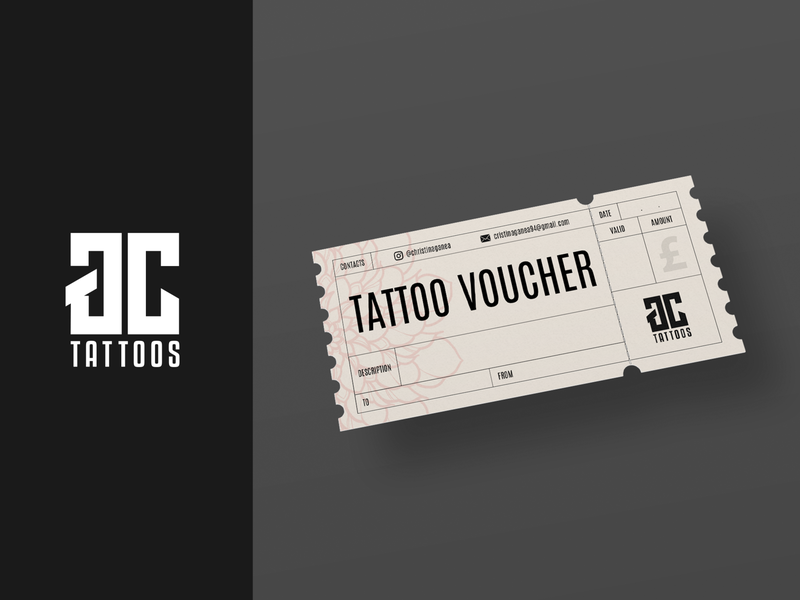 GC |  Voucher tattoo voucher vector logo graphic  design design