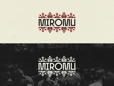 MIROMU | Logo & Visual identity visual identity traditional ornaments ornament minimal music music music community music label brand design brand identity brand branding vector adobe illustrator logo graphic  design design