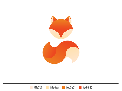 Day 16 Fox Logo golden ratio vector logo graphic  design design dailylogodesign dailylogochallenge dailylogo adobe illustrator