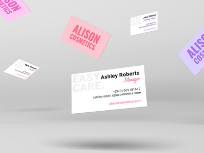 """Alison Cosmetics"" Business Cards"