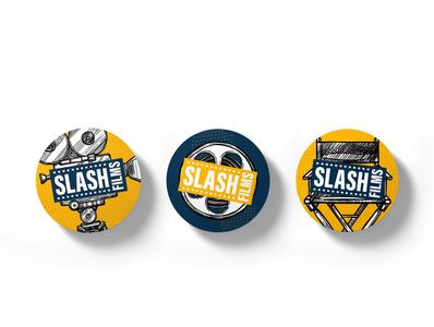 Slash Films Vinyl Stickers