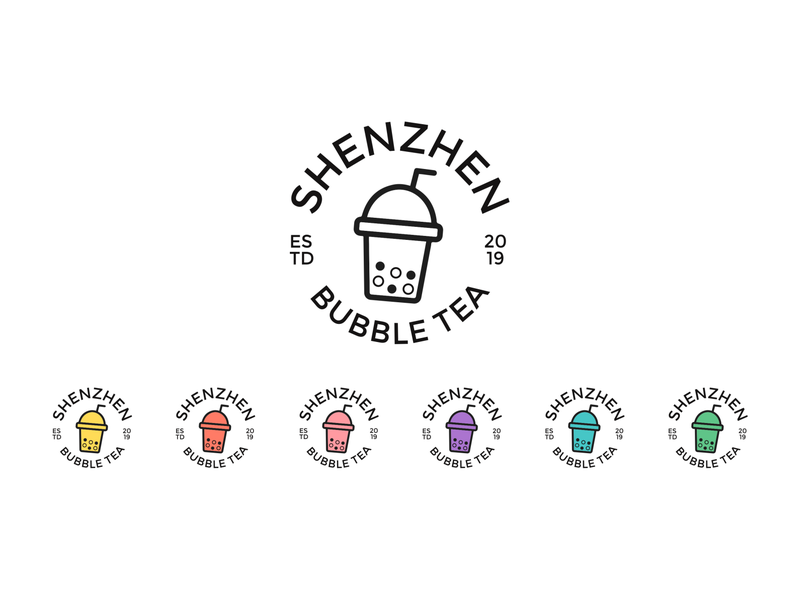 Shenzhen Bubble Tea Logo bubble tea beverage brand design brand branding logocore vector logo graphic  design design adobe illustrator