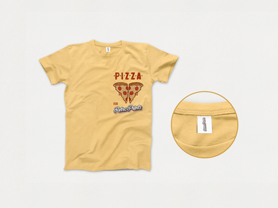 Retro Prints T-shirt prints retro pizza illustration mockup t-shirt design brand identity adobe photoshop branding brand logocore vector logo graphic  design design adobe illustrator