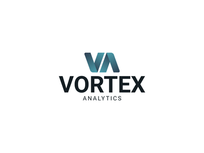 Vortex Analytics Logo gradient monogram software analytics brand brand identity branding logocore vector logo graphic  design design adobe illustrator