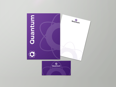 Quantum Stationary frameworks php quantum folder design envelope design stationary design adobe photoshop brand brand design brand identity branding logocore vector logo graphic  design design adobe illustrator
