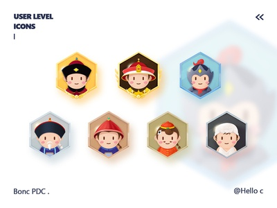 User Level Medal Design 丨 base on Chinese ancient officials