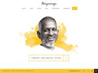 Ilaiyaraaja website - Landing Page Concept