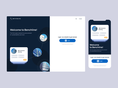 Benchline branding sustainability illustration uidesign ux