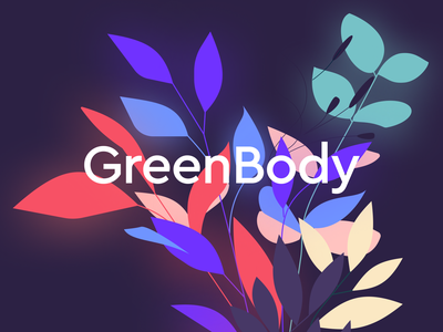 GreenBody 💚 vector ui design branding illustration web
