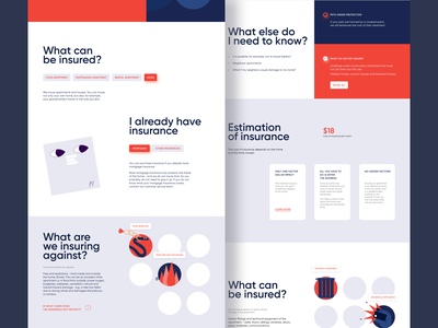 Insurance company 🔥 | UI/UX design illustration uxdesign branding web