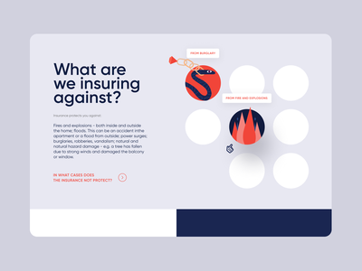 Insurance company 🔥 | UI/UX design ux branding ui illustration typography insurance web