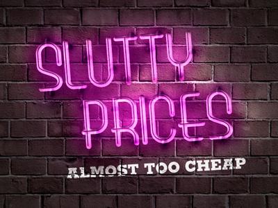 Bk Slutty Prices advertising photoshop burger king