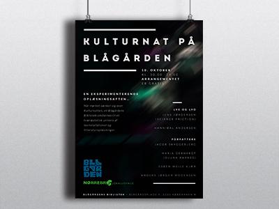 Poster culturenight poster blågårdsplads culture mystic lights dark