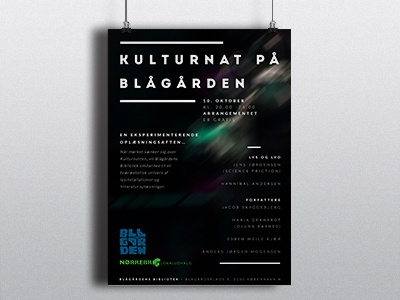 Poster culturenight poster blågårdsplads culture mystic lights dark