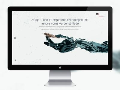 Teknologisk Institut website details robot technologic webdesign