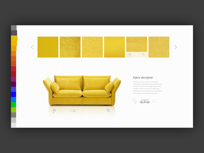 Customizing tool for Kvadrat custom customise furniture textile fabric kvadrat