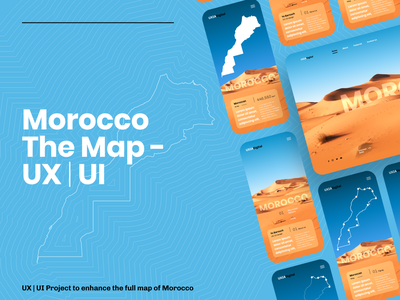 Morocco The Map - UX | UI web mobile app desktop map ui design ux  ui