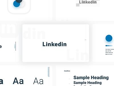 LinkedIn Redesign logotype brand designer typography color interface redesign