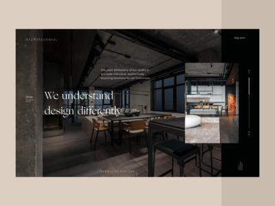 Interior Design Studio Website ecommerce interior typogaphy concept architecture branding ux flat ui minimal design clean ui