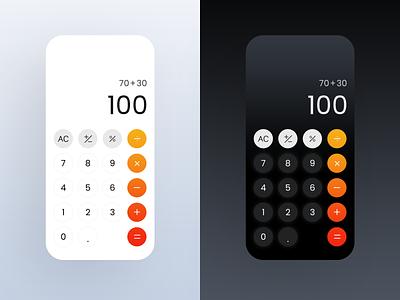 DailyUI :: 004 visual design ui mobile calculator dailyui