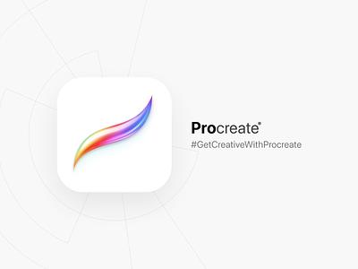 Procreate App Icon ipad branding design illustration digitalart ios icon app getcreativewithprocreate procreateapp procreate