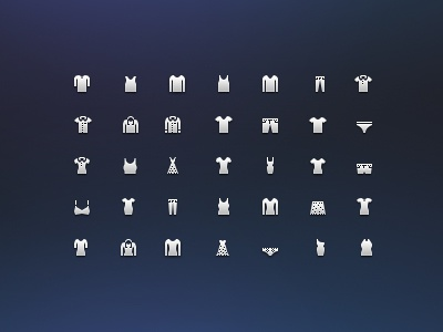 Costume Icons  icons 32px 16px glyph shopping cloth costume
