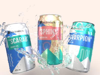 Pola Brewing - beer can design/rendering