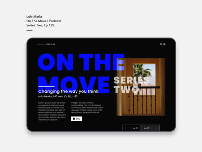 On The Move grid design typography podcast digital design web design